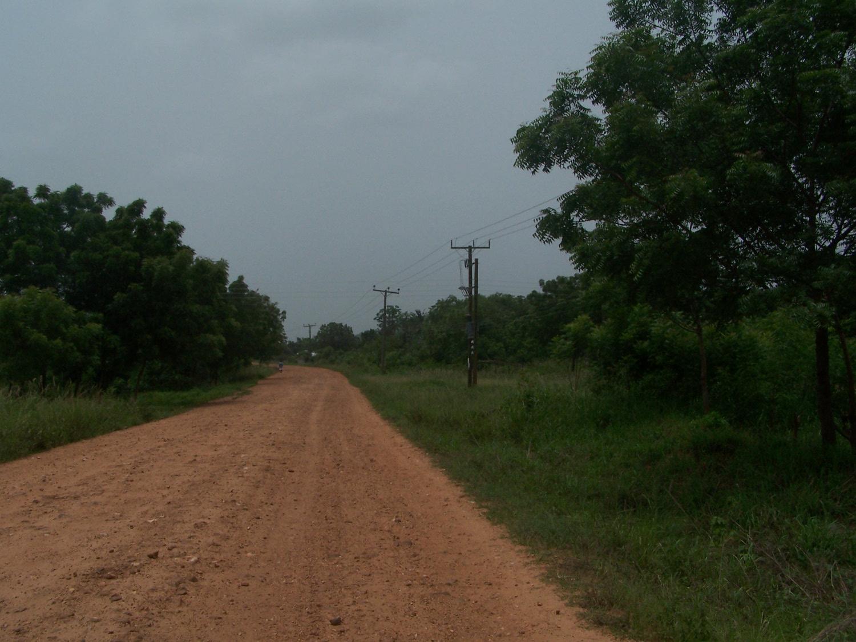 Dorfstraße nach Juapong